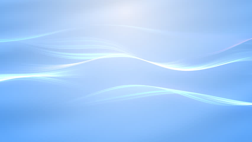 blue smooth flowing waves on light background  video
