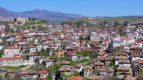Day Timelapse, Traditional Ottoman Anatolian Village, Safranbolu, Turkey, zoom in