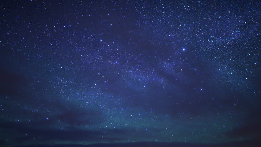 Time Lapse Of Night Sky And Milky Way Galaxy Stock Footage ...
