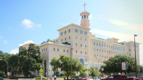 CLEARWATER, FL - JULY 26: Church of Scientology Headquarters building, taken on July 26, 2015. The Church of Scientology is one of the most controversial religious organizations.