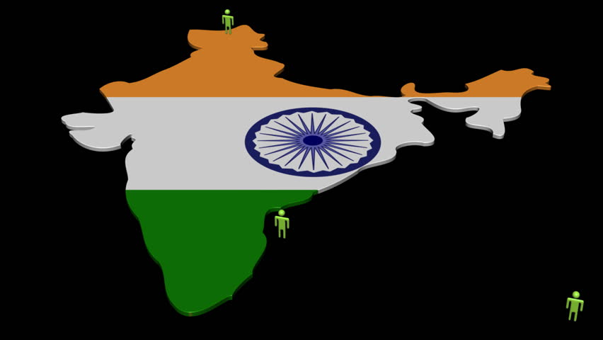 India Map Flag.India Map Flag With Many Stock Footage Video 100 Royalty Free