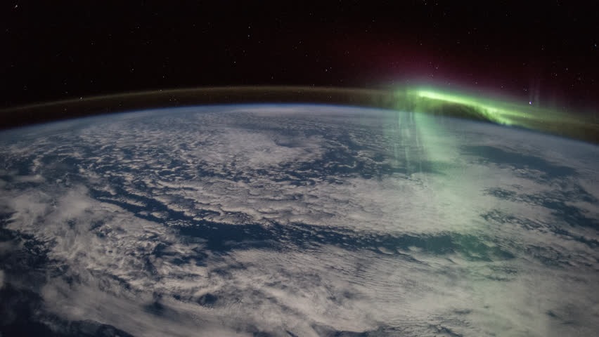 28th August 2015: Planet Earth seen from the International Space Station with Aurora Borealis over the earth, Time Lapse 4K. Images, courtesy of NASA Johnson Space Center : http://eol.jsc.nasa.gov
