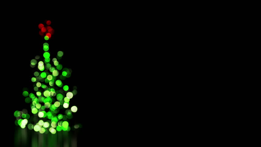 Blurred Christmas Tree Lights Computer Generated Seamless Loop Animation 4k