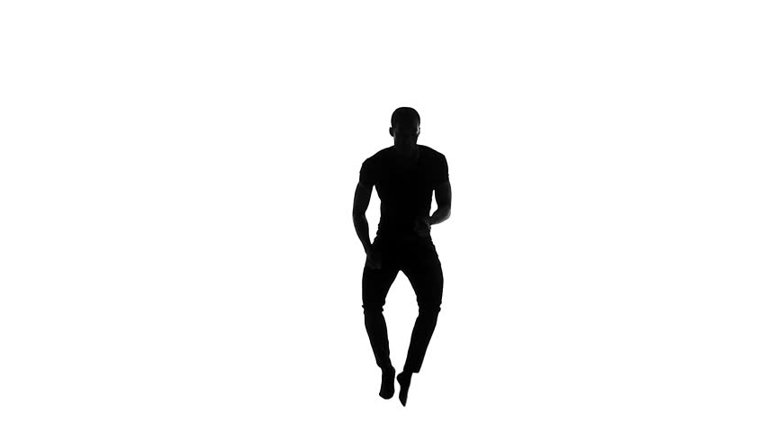 Female hip hop dancer silhouette on green background alpha happy handsome afro american man dancer dancing latina dance on white background slow motion voltagebd Image collections