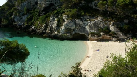 Cala Macaraletta Beach, Menorca Spain.