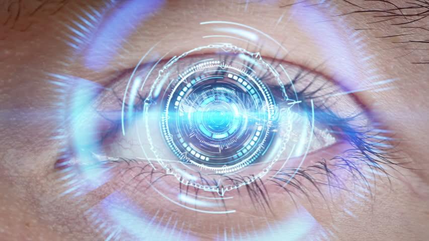 Close-up of high tech cyber eye    Shutterstock HD Video #11585720