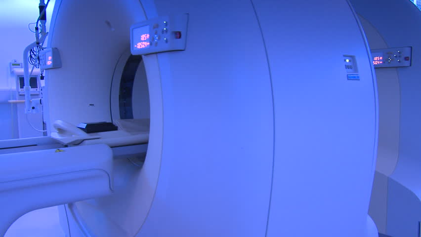 Anonymous patient on PET CT scanner 2