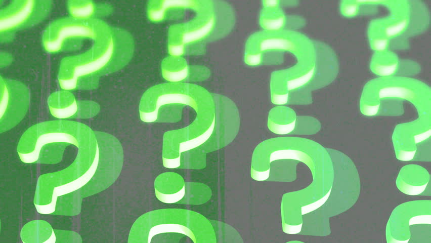Vintage question mark animated background