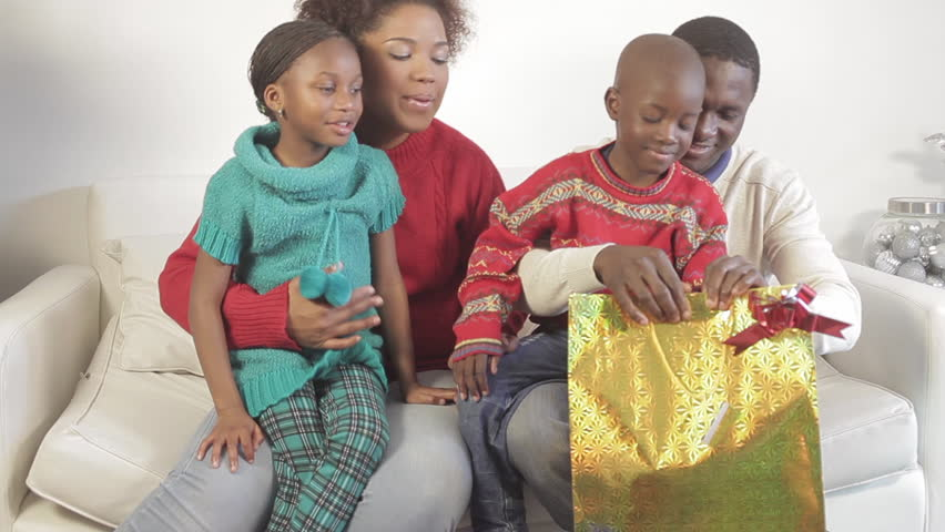 black family opening theirs christmas stock footage video 100 royalty free 11621360 shutterstock - Black Family Christmas Pictures