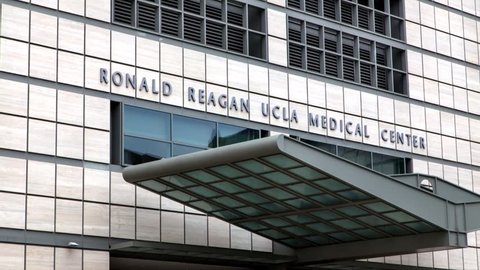 LOS ANGELES, CA/USA - MAY 25, 2015: Ronald Reagan UCLA Medical Center. The UCLA Medical Center is a hospital in Los Angeles, California, United States.