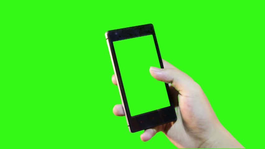 Attractive hand gesture touching virtual smart phone on green screen | Shutterstock HD Video #11654270