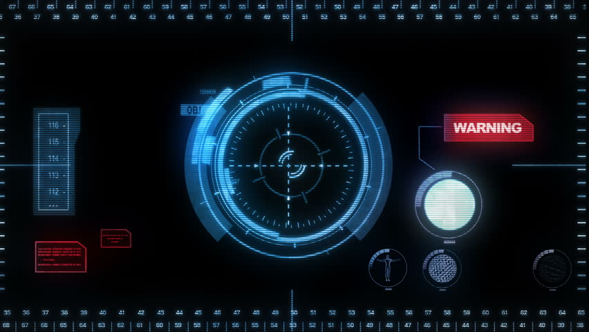 Digital Hud. Blue. Futuristic computer interface perfect to compose using modes. Loopable from frame 164 to frame 287. More colors in my portfolio.