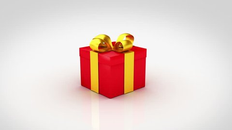 Gift boxes opening. 3D animation of 6 different Christmas gifts with nice ribbons opening.