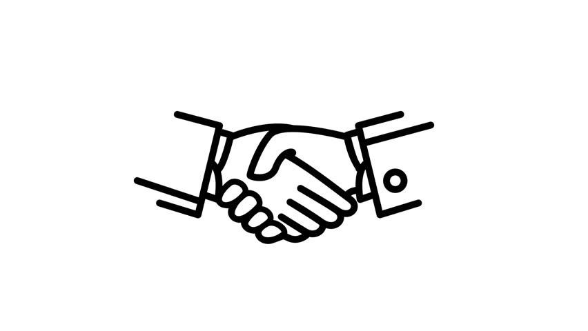 Handshake Animation Line Icon