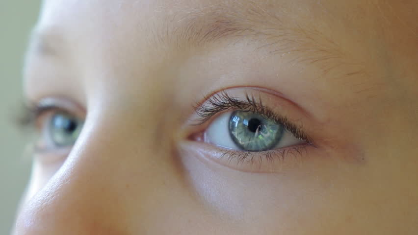 Kids eyes close up blinking  #11832470