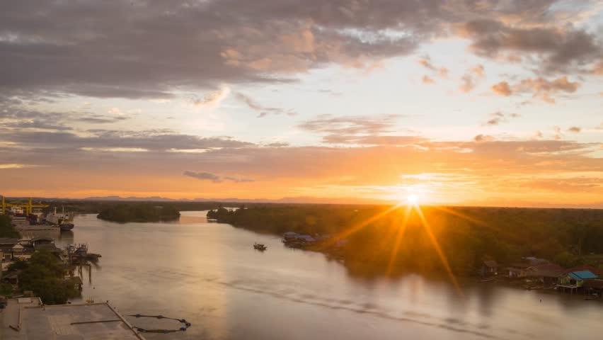 Sunset near the river | Shutterstock HD Video #11838410
