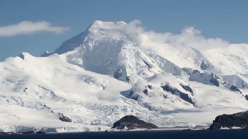 Antarctica LandscapePan shot of Antarctica Landscape Mountains and snow