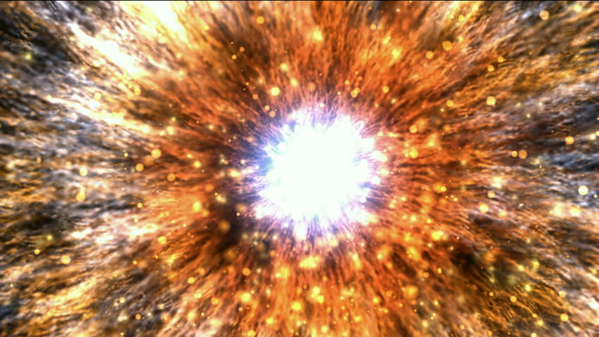 galaxy and cluster explosion in space,flying through black hole tunnel,power energy release,spectacular science fiction scene.
