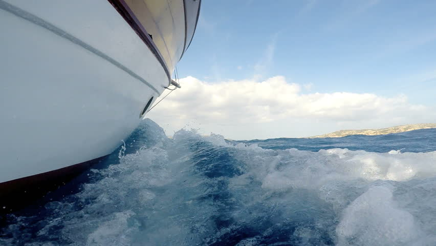 Sailing on rough seas at speed | Shutterstock HD Video #11992718