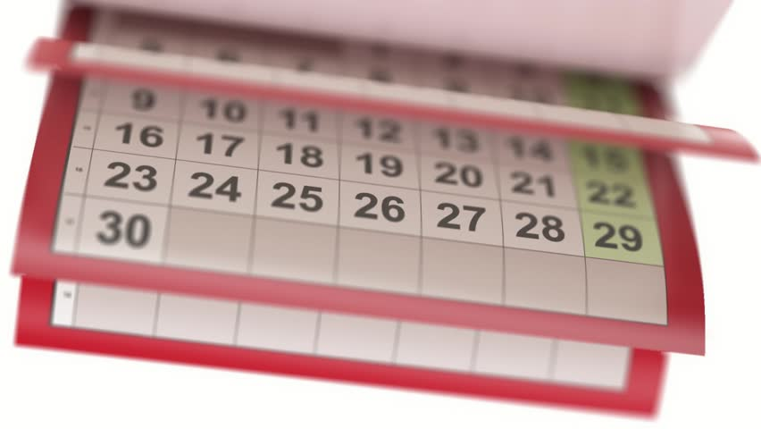 Calendar pages turneng in slow motion | Shutterstock HD Video #12067730
