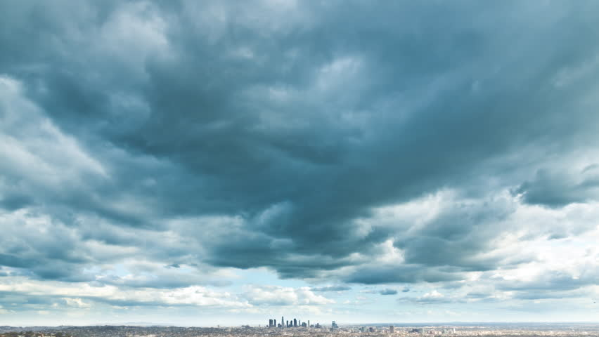 Los Angeles Super Storm Dark Clouds Timelapse | Shutterstock HD Video #12076250