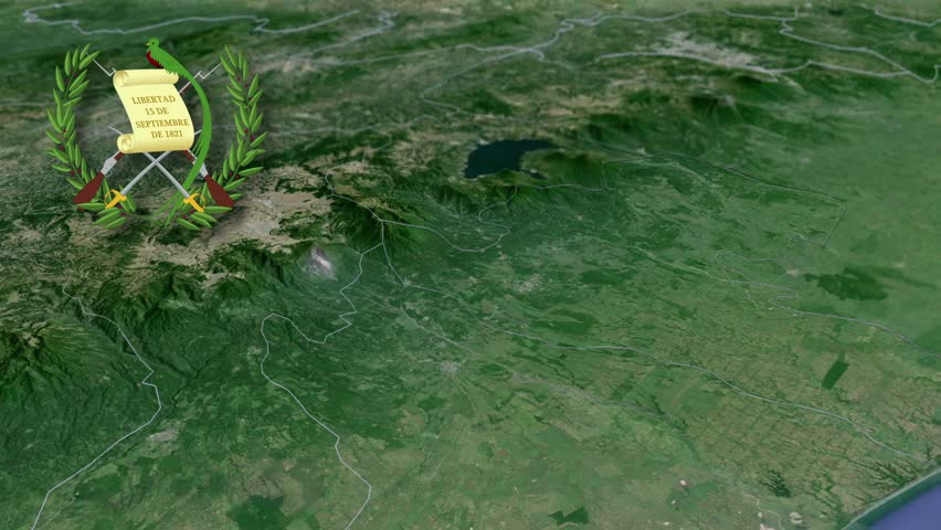 Guatemala Flag And Map Animation Stock Footage Video - Departments map of guatemala
