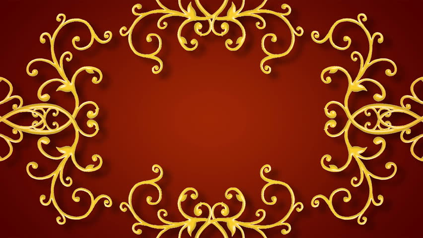 Growing Golden Elements Forming A Stock Footage Video 100 Royalty