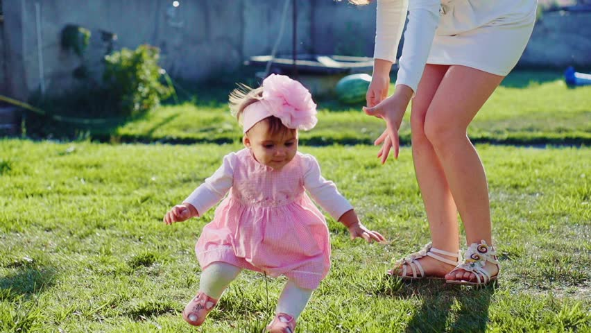 Baby Girl Is Doing Her Stock Footage Video 100 Royalty -9059