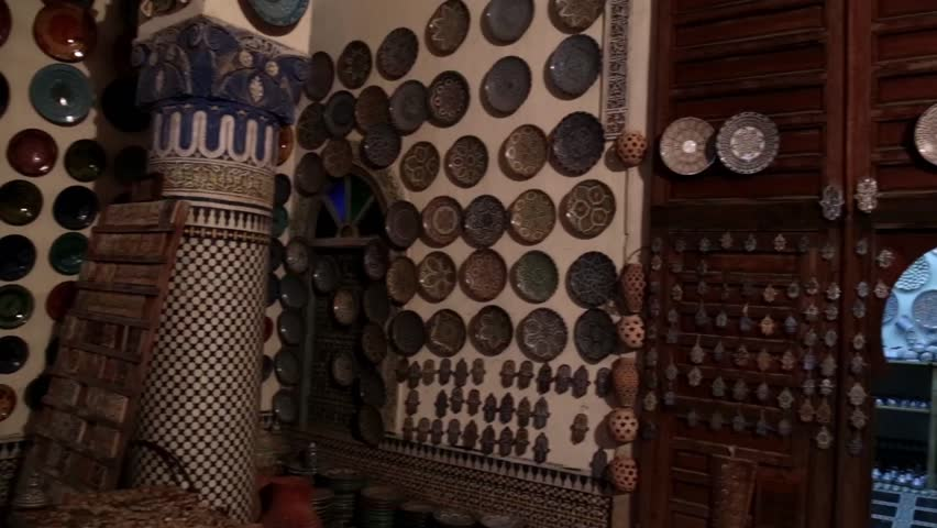 Moroccan Pottery in large space