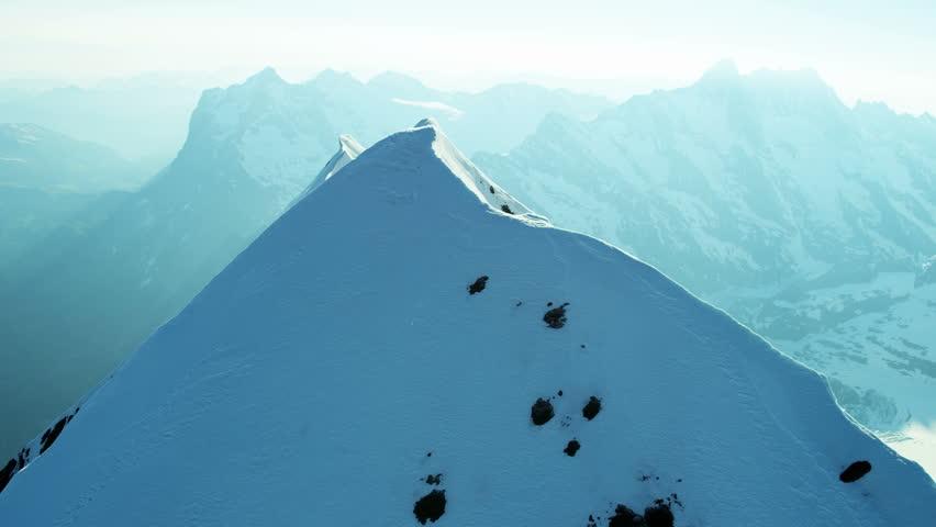 Aerial Eiger Swiss Grindelwald Rock climbing mountaineering snow ice valley mountain Alps scenic Bernese Oberland Range fitness outdoor Peak