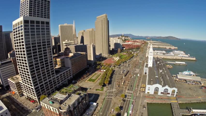 Aerial video in San Francisco, California.