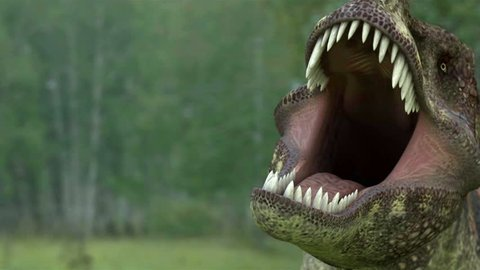 dinosaur 3d animation. tyrannosaur rex