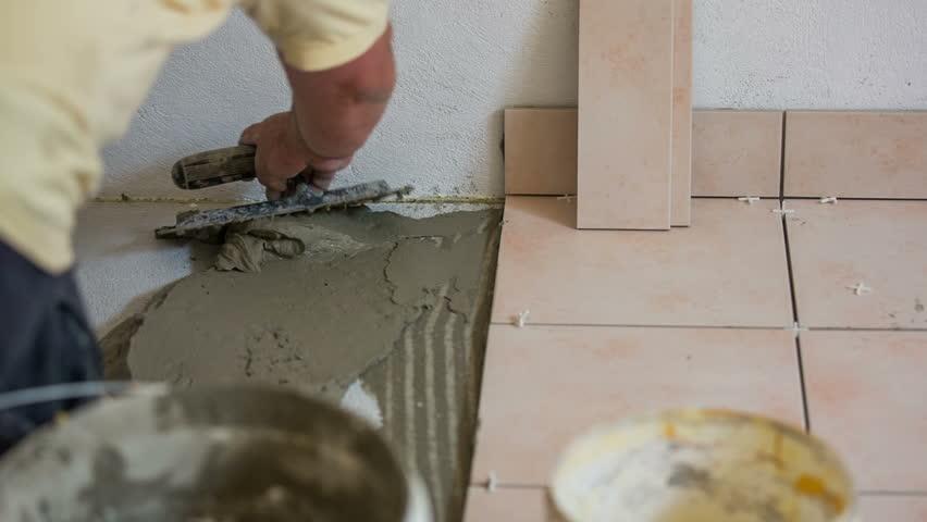 Glue for tiles on the floor