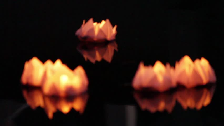 Origami lotus stock video footage 4k and hd video clips shutterstock hd0008floating lotus flower paper lanterns on water mightylinksfo