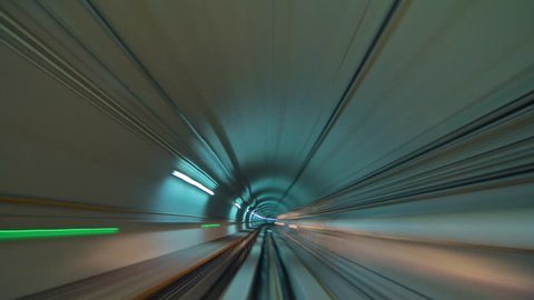guangzhou metro tunnel ride 4k time lapse china