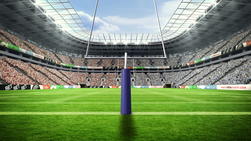 Digital animation of American football stadium