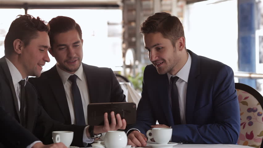 Business Lunch In A Restaurant Stock Footage Video 100 Royalty