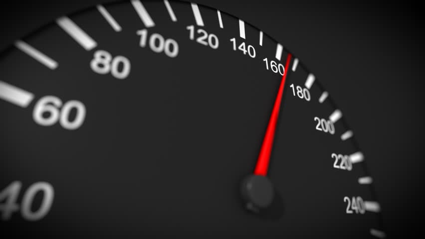 Car Speedometer And Moving Pointer Stock Footage Video 100 Royalty