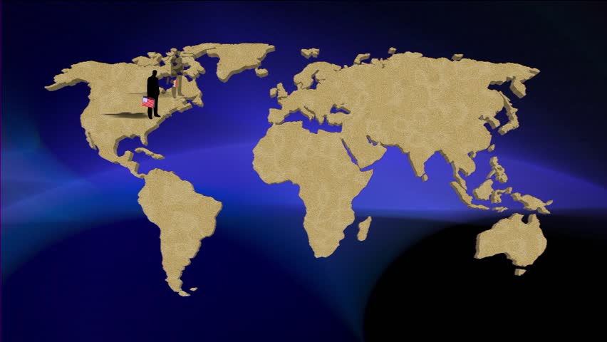 Loop animation of an illuminated world map countries light up in animation worldmap background about g8 countries hd stock video clip sciox Choice Image