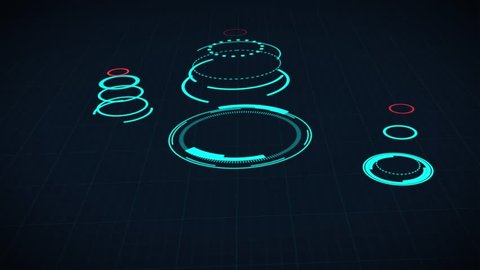 Heads up display info graphic interface web elements Futuristic space thin HUD user interface