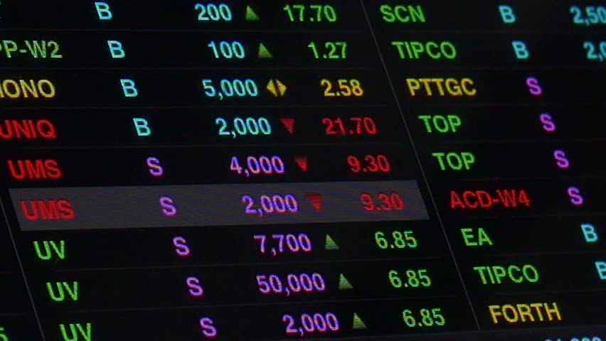 4k00:214k footage display of Stock market quotes On-screen