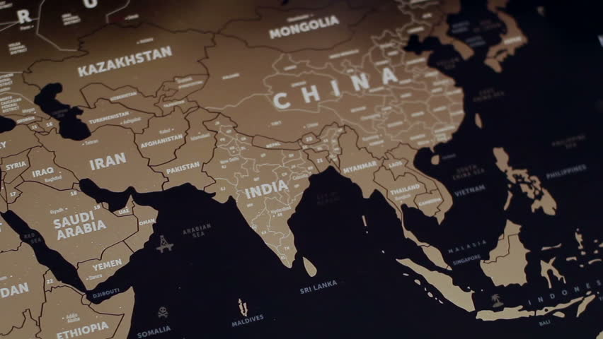 Map Of Asia Video.Slider Paper Asia Map Background Stock Footage Video 100