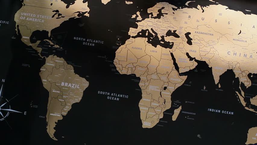 The World Map Stock Footage Video Shutterstock - Kazakhstan map hd