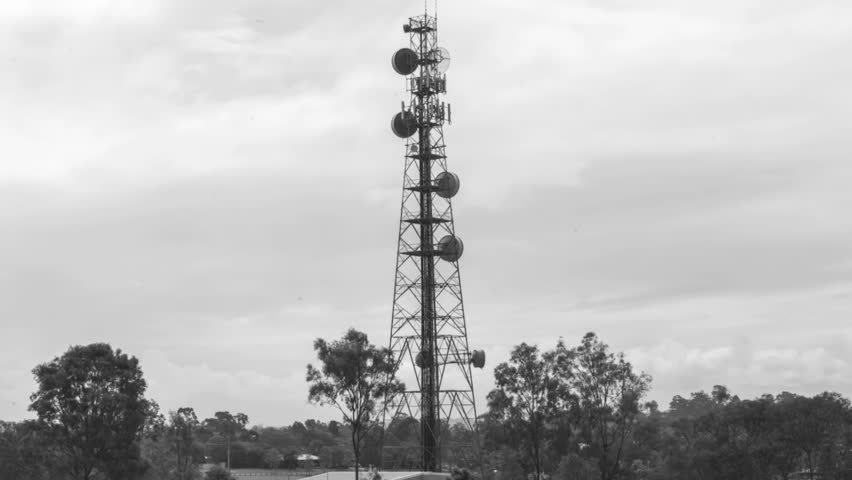 Radio Tower Black and White Stock Footage Video (100% Royalty-free)  12549440 | Shutterstock
