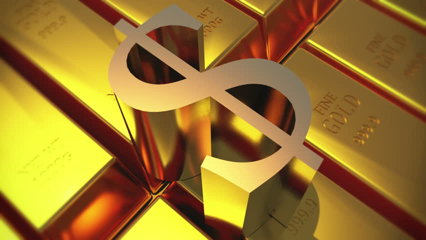 Stock Video Of 4k Gold Bullion Amp Rotate Dollar 12550850