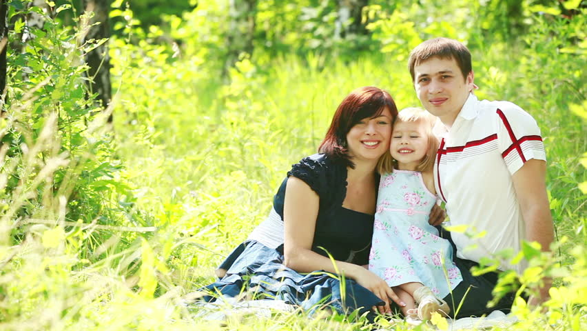 Portrait Happy Family Sitting On Stock Footage Video 100 Royalty
