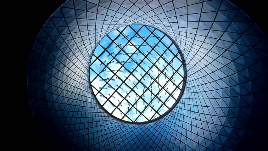 Futuristic Skylight Window and Cloudscape Time Lapse 4K #12567050