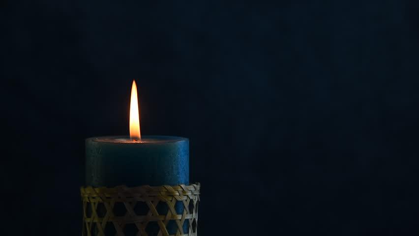 One Candle In Tiramisu Cake Birthday Vintage Background