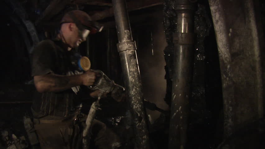 dark basement hd. Hd00:20DONESK/UKRAINE - AUG 07 2012: Worker Is Working With Jackhammer Darkness Coal Close Up Workers Men In Workwear Safety Helmets Lamps On A Dark Basement Hd