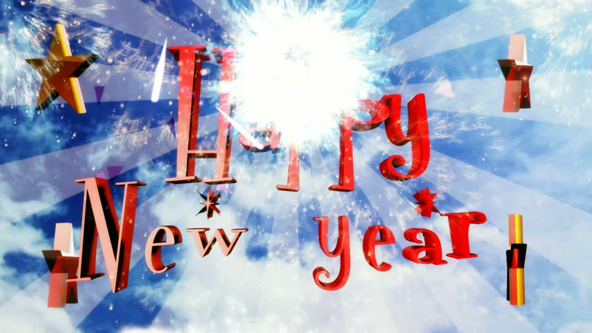 Happy New Year natural cloud design | Shutterstock HD Video #1264627